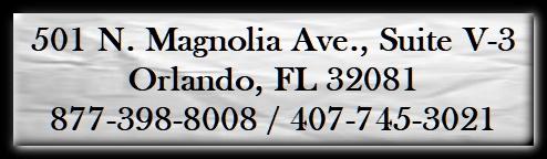 501 N. Magnolia Ave., Suite V-3, Orlando, FL 32081 877-398-8008/407-745-3021