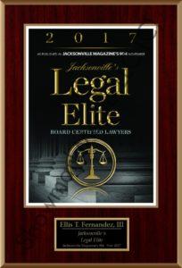 Jacksonville's Legal Elite, 2017